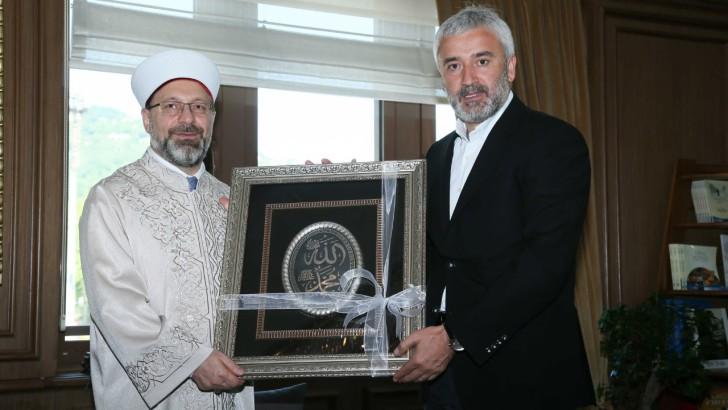 DİYANET İŞLERİ BAŞKANI PROF. DR. ALİ ERBAŞ, BAŞKAN YILMAZ'I ZİYARET ETTİ