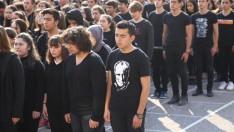 Ordu'da öğrenciler Atatürk silüeti oluşturdu