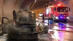Ordu'da Öceli Tüneli'nde araç yangını