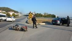 Ordu'da otomobille çarpışan motosikletin sürücüsü yaralandı