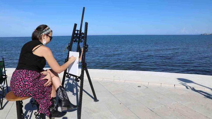 Sanat Şehri Ordu'da Altınordu Sahili ve Boztepe Ressamların Kullanımına Sunuldu