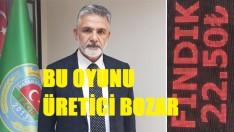 Başkan Akça, Fındıktaki Bu Oyunu Üretici Bozar