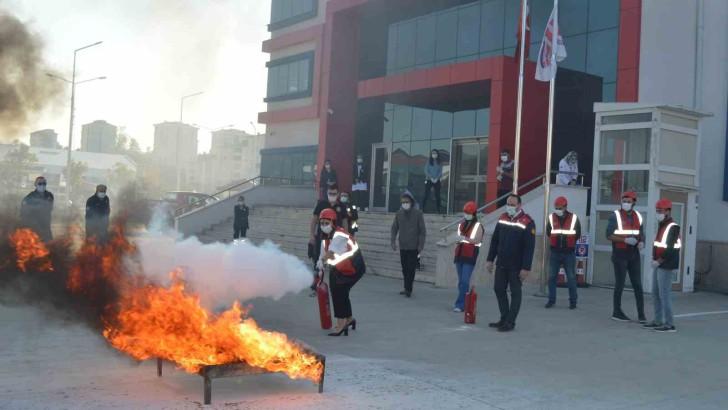 Ordu Büyükşehirden Kurumlara Yangın Eğitimi