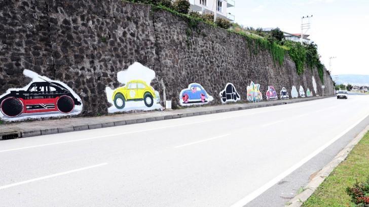 Ordu'da Boş Duvarlar Grafiti ile Renkleniyor