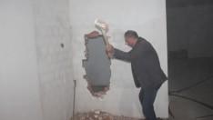 İnşaat temelindeki toprak kaydı bina sakinleri tahliye edildi