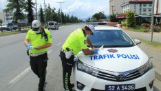Ordu'da 137 araç Trafikten Men Edildi