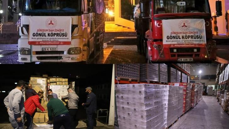 Fındık Tarım Satış Kooperatiflerinden İzmir'e yardım eli