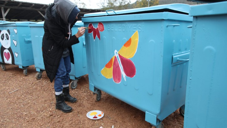 Ordu'da Çöp Konteynerleri Çiçek Açtı