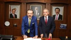 Başkan Hisarcıklıoğlu'ndan Şahin'e teşekkür.