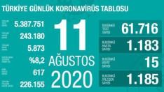 Türkiye 11 Ağustos korona tablosu