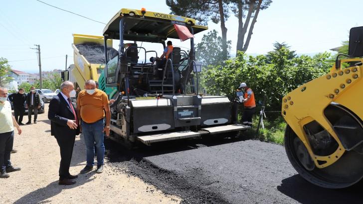 Ordu Büyükşehir asfalt çalışmalarına hız verdi