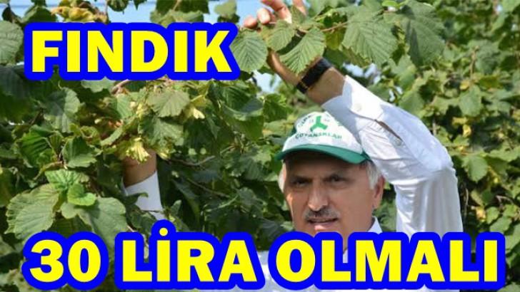 AK Parti Milletvekili Öztürk, Fındık 30 lira Olmalı
