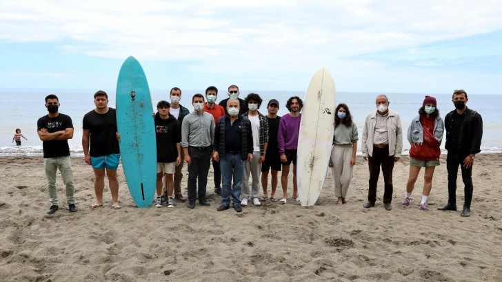Ordu'da dalga sörfü eğitimleri başladı