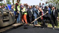 Vali Yavuz Ve Başkan Tekintaş, Turizm İçin Asfalt Döktü