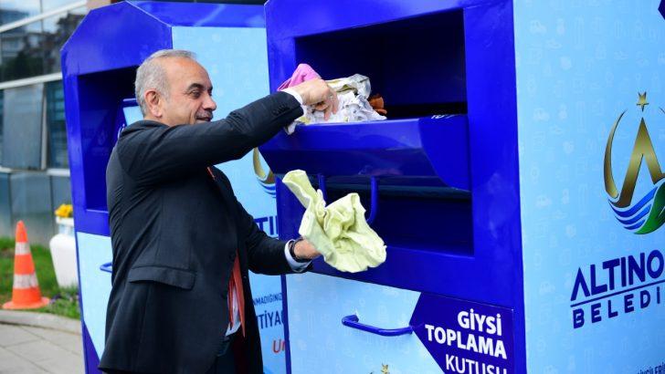 Altınordu Belediyesi Tarafından 'Giysi Toplama Kutusu' Hizmete Açıldı