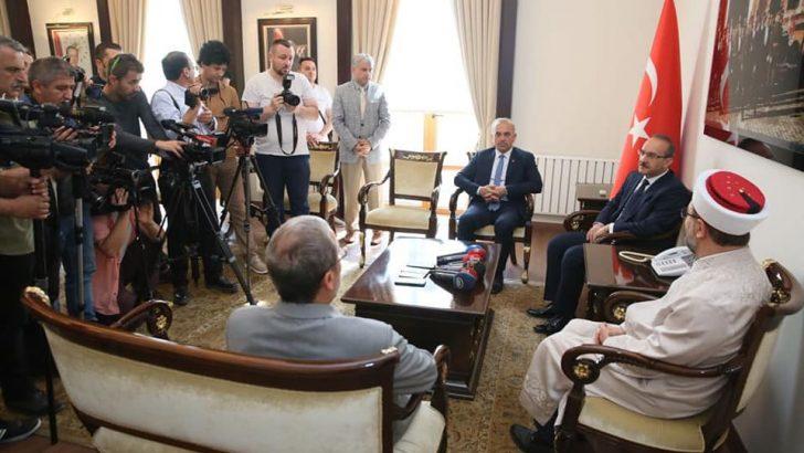 Diyanet İşleri Başkanı Prof.Dr. Erbaş, Vali Yavuz'u Ziyaret Etti