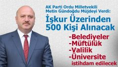 500 kişilik istihdam müjdesi