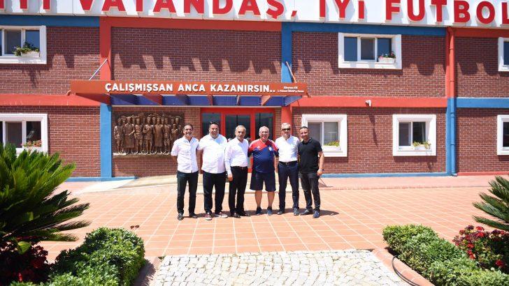 BAŞKAN TEKİNTAŞ, ALTINORDU FK'YI ZİYARET ETTİ