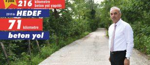 ALTINORDU BELEDİYESİ'NDEN 4 YILDA 216 KM'LİK BETON YOL!