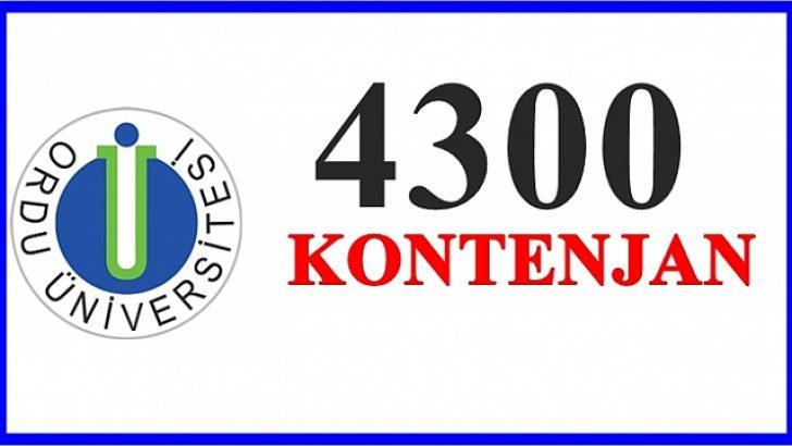 ODÜ'YE 4300 KONTENJAN!