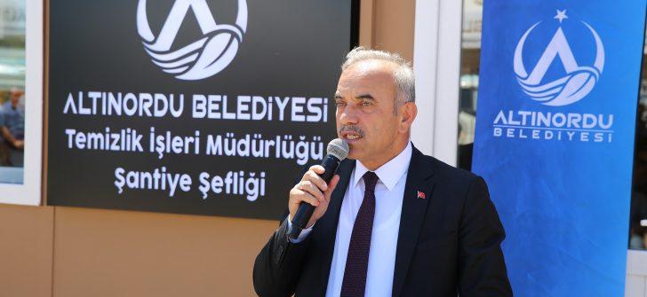 Altınordu Belediyesi Temizlik İşleri şantiyesi hizmete açıldı