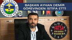 Fatsa Belediyespor'da İSTİFA!