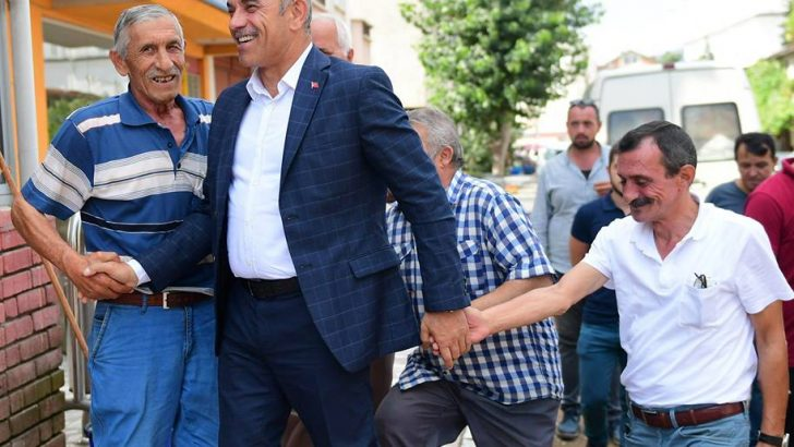 BAŞKAN ENGİN TEKİNTAŞ HAFTA SONU MESAİSİNDE..
