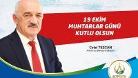 Başkan Tezcan'dan 19 Ekim Muhtarlar Günü Mesajı
