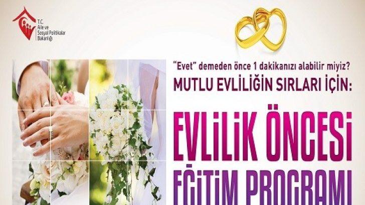 Ordu'da Evlilik Öncesi Eğitim Programı Düzenlenecek