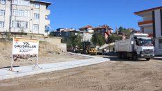 Havza Belediyesi bozulan yolları asfaltladı
