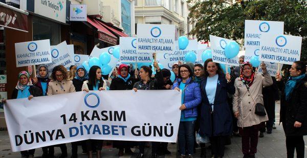 Diyabete karşı yürüdüler