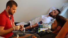 Havza'da KYK öğrenci yurdunda kan bağışı kampanyası