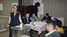 Havza'da Öğrenci Meclisi ilçe temsilciliği seçimi