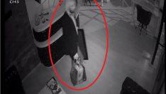 Hırsızlık zanlısının kuaförde peruk takması güvenlik kamerasında