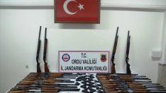 Ordu'da kaçak silah operasyonu