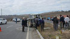 Samsun'da traktör devrildi: 4 yaralı