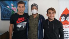 Samsunsporlu futbolculardan lösemili çocuklara destek