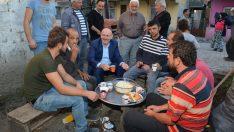 Terme Belediye Başkanı Kul'un mahalle ziyaretleri