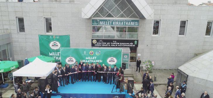 Ordu Millet Kıraathanesi Açıldı