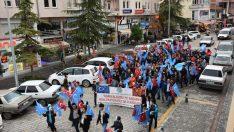 Vezirköprü'de Doğu Türkistan için yürüyüş düzenlendi