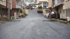 Altınordu'da sıcak asfalt çalışması