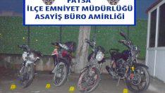 Ordu'da motosiklet hırsızlığı