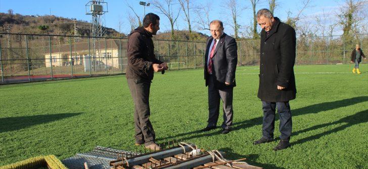 Ordu'da selden zarar gören spor tesisleri yenileniyor