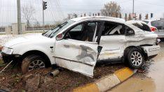 Ünye'de tır otomobile çarptı: 1 yaralı