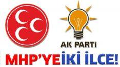 ORDU'DA 2 İLÇE MHP'YE VERİLDİ