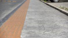 Altınordu'da beton kaldırım çalışmaları
