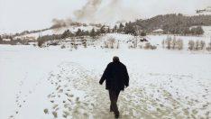 Ordu'da bin 500 rakımlı yayladaki göl buz tuttu