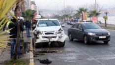 Ordu'da pikap ile otomobil çarpıştı: 2 yaralı