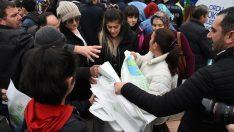 Ordu'da vatandaşlara bez çanta dağıtıldı