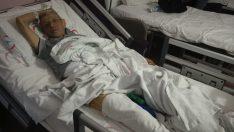 Domuz saldırısına uğrayan kişi yaralandı